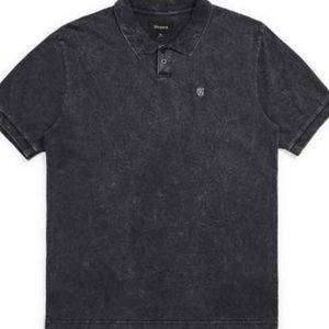 New with tags Brixton Black acid wash polo top